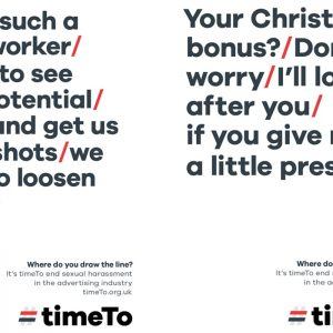 TimeTo's new campaign encourages witnesses to sexual harassment to take action