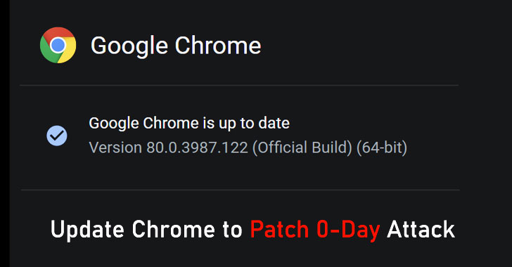 Install Latest Chrome Update to Patch 0-Day Bug Under Active Attacks