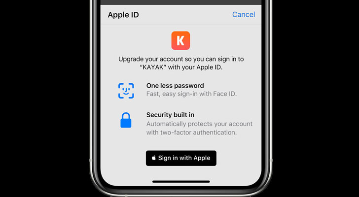 iphone sign in with apple id