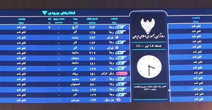 A New Wiper Malware Was Behind Recent Cyberattack On Iranian Train System