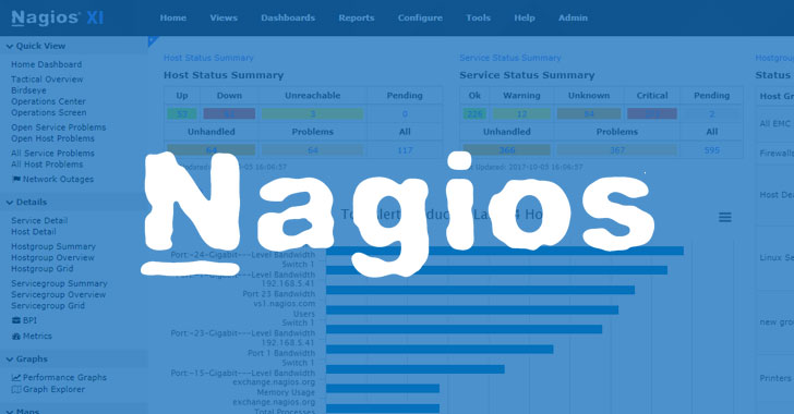 New Nagios Software Bugs Could Let Hackers Take Over IT Infrastructures