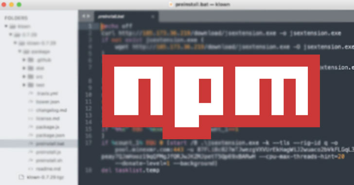 Malicious NPM Packages Caught Running Cryptominer On Windows, Linux, macOS Devices
